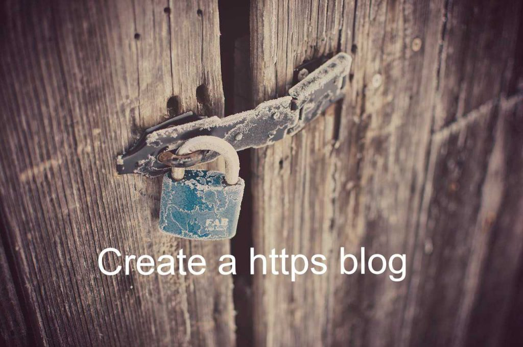 Create https blog