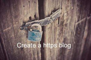 Create https blog