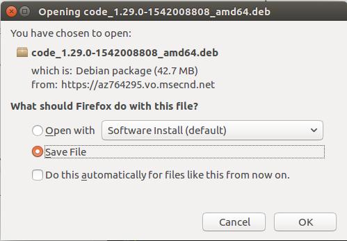 Install visual studio code on ubuntu 16.4 desktop